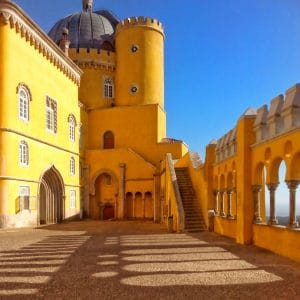 Terrace of Pena Palace in Sintra