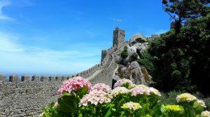 Sintra Castle walls in tour sintra