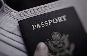 passport and vaccine certificate